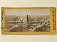 Paris Les sept Ponts Photographie Stereo Vintage Albumine c1865