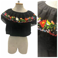 Late 70s Multicolored Hand Knit Braided Leather Boxy Top