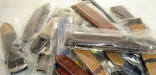 5 x 22 mm genuine leather watch straps wholesale job lot with free spring bars