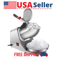 Commercial Electric Snow Cone Ice Shaver Machine Shaved Ice Maker 143lbs/hr