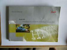 Audi A3 Owner's Manual / Handbook
