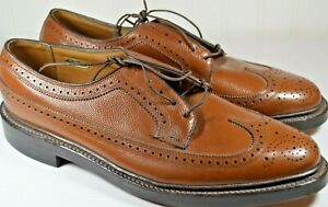 NOS Florsheim Imperial V Cleat Longwing Brown Dress Shoes Size 10 B Narrow