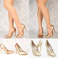 Trendy Women's  Classic Pointy Toe High Heels Stilettos Platform Pumps Size H11