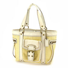 Coach Tote bag Beige White Woman Authentic Used T4831
