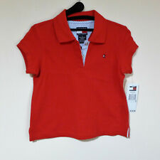 NWT Tommy Hilfiger Red Polo Shirt For Girls Size 5