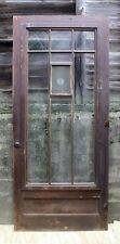 """36.5""""x85 Antique Vintage Old Wood Wooden Storm Screen Exterior Door Window Glass"""