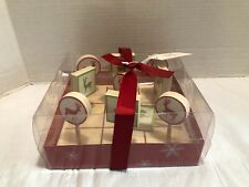 PIER 1 WOODEN TIC TAC TOE PARTY GAME CHRISTMAS GIFT SET WOOD TIC-TAC-TOE  - NEW