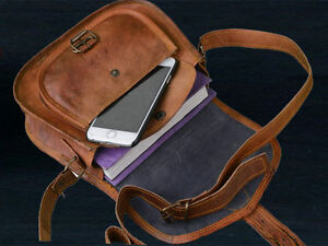 Women's Vintage Brown Leather Messenger Bag Shoulder Hippie Handmade Purse Bag