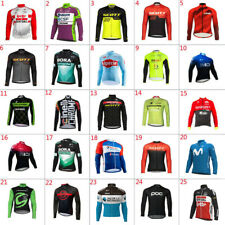 2020 Mens Thermal Fleece Cycling Jersey Cycling Jersey Long Sleeve