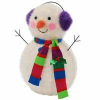 35ct Christmas Decoration Incandescent Lights Tinsel Small Snowman