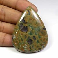 Natural Orthoceras Pear Shape Cabochon Loose Gemstone 74Cts 60x19mm #1426