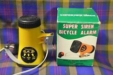 Vintage SUPER SIEN BICYCLE ALARM w/3 Sound Effects-Police,Fire Engine, &Ambulanc