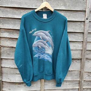 Vintage 90s Dolphin Oversized Sweatshirt. Made In USA