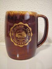 Hull University of Michigan Brown Drip Pottery Beer Mug