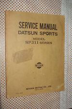 DATSUN SPORTS SP311 SERVICE MANUAL ORIGINAL SHOP BOOK FAIRLADY REPAIR NISSAN OEM