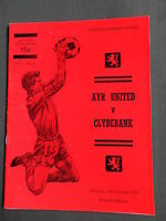 AYR UNITED  v CLYDEBANK  -  1977/78  -SCOTTISH  PREMIER