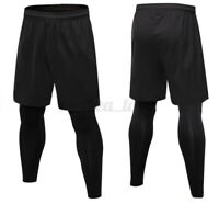 Mens Football Shorts Jogging Running Gym Sports Breathable Fitness Size XS 2XL