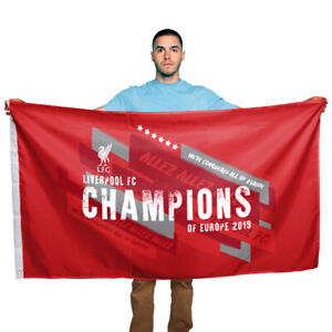 Liverpool FC Champions of Europe 2019 Flag 150x90 cm 100% Polyester Gift Adult