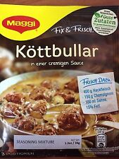 10 Bags of German Maggi Fix Koettbullar (Swedish Meatballs), Best By Date Sale