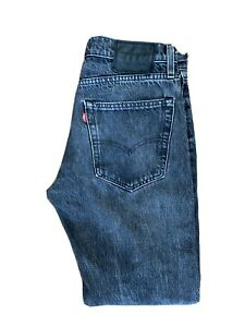 Original LEVI'S Lot 512™ Premium Skinny Black Stretch Denim Jeans W30 L32 ES8204
