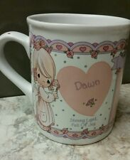 Vtg 1994 Precious Moments~Dawn~ Cup Enesco Pm Personalized Mug