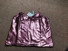 Asos Pale Pink Sequin Top Size 12