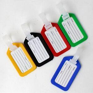 5x voyage bagage sac étiquette nom adresse ID étiquette plastique valise bag_ DD