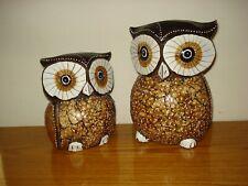 Vintage Folk Art Owl Wood Hand Painted Home Decor Sculpture