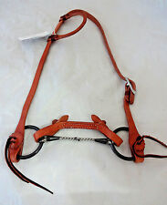 Billy Cook One Ear Harness Leather Horse Bridle Snaffle Iron Twist Red River Bit