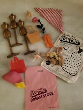 Look 1960s 70s 80s Barbie Accessories Lot Wicker Purse Mannequins And More!!!