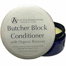 Armani Fine Woodworking Butcher Block Conditioner with Organic Beeswax 8 oz
