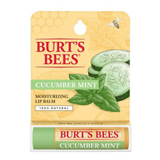 [BURT'S BEES] 100% Natural Beeswax Lip Balm Made in USA (CUCUMBER MINT) NEW