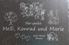 Schiefertafel 30 x 20 cm, nach ihren Wünschen mit Lasergravur