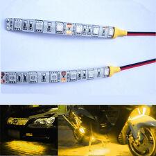 2PCS Waterproof Flexible Strip Light Lamp 10cm 6SMD Yellow For Car Truck Motors