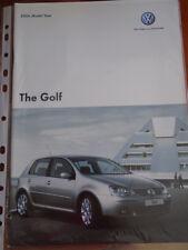VW Golf range brochure 2006 model year pub Jun 2005