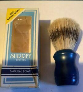 VINTAGE SURREY FOR MEN SHAVING BRUSH 31014 100% NATURAL BRISTLE BOAR HAIR