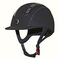 New Gatehouse Chelsea Air Flow Pro Suedette Black Horse Riding Hat Helmet 50cm