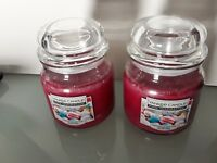 2 X Christmas Yankee Candle Sparkle & Shimmer Medium jar 340g
