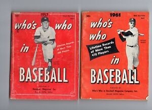 1957 & 1961 Who's Who pair : MICKEY MANTLE & ROGER MARIS New York Yankees books