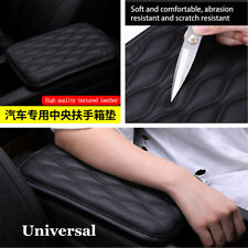 Center Console Armrest Leather Synthetic Cover Cushion Universal For Car SUV