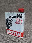 Ancien bidon d'huile Motul mix 2T vide déco de garage vintage french antique