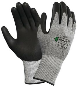 Ansell HyFlex 11-435 Work Protection Gloves Grip PU Palm Coated Dyneema Cut 5 10