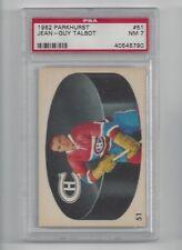 1962 Parkhurst #51 Jean-Guy Talbot, PSA 7 NM, Vintage Montreal Canadiens 1962-63