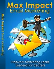 Max Impact E-mail Marketing PDF eBook with resale rights!