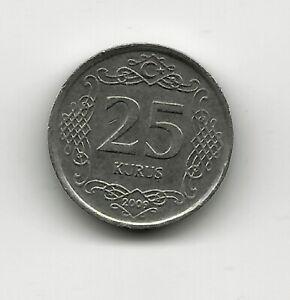 World Coins - Turkey 25 Kurus 2009 Coin KM# 1242