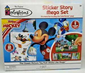 Disney Junior Mickey 80+ Colorforms Sticker Story Mega Set 6 Background Scenes