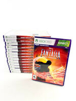 Lot of 14 Xbox 360 Kinect Disney Fantasia Music Evolved Video Games