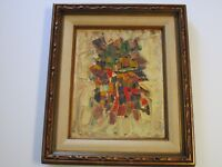 ELLIS JACOBSON PAINTING MODERNISM  ABSTRACT EXPRESSIONISM COLORFUL 1950'S CHUNKY