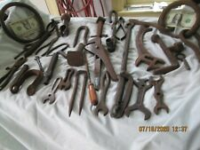 great old collection of old farm tools and other old items hand forged