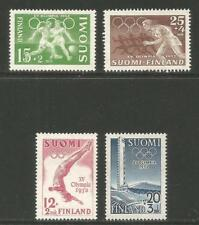 Finland 1951-52 Olympic Games semipostal-Attractive Sports Topical (B110-13) Mh